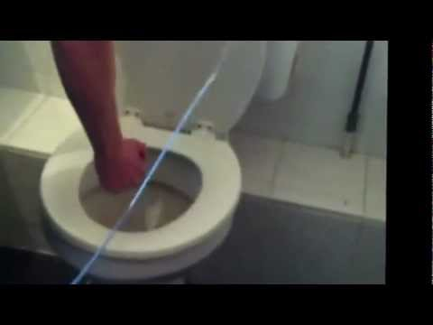 How To Unblock A Toilet Using Firework - YouTube