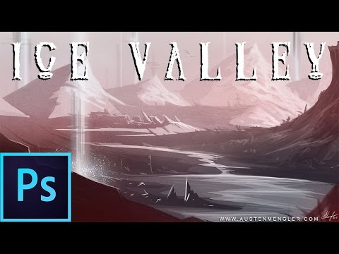 Ice Valley 1 Hr Photoshop Speed Painting 2013