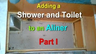 Adding a Shower and Toilet to an Aliner Part 1