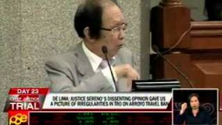 Cuevas moves to strike out De Lima's entire testimony