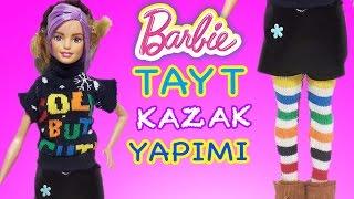 Barbie Oyuncak Bebekler için Tayt ve Kazak   Nasıl Yapılır   Oyuncak Butiğim