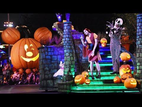 Frightfully Fun Parade at Mickey's Halloween Party 2017, Disneyland w/Villains, Jack & Sally, Mickey