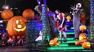Frightfully Fun Parade at Mickey's Halloween Party 2017, Disneyland w/Villains, Jack & Sally, Mickey thumbnail
