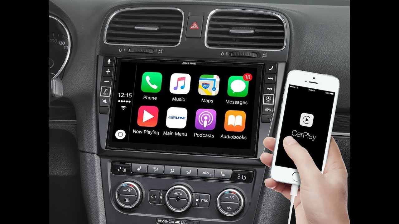 apple carplay android auto for golf 6 alpine i902d g6. Black Bedroom Furniture Sets. Home Design Ideas