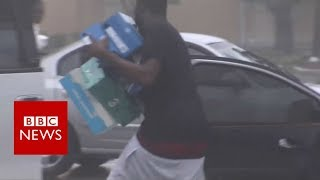 Hurricane Irma: Looters caught on camera in Miami - BBC News