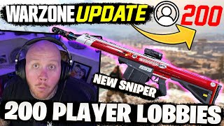 *NEW* 200 PLAYER LOBBIES AND WEAPON NERFS! WARZONE UPDATE Ft. Cloakzy, 72HRS & CourageJD