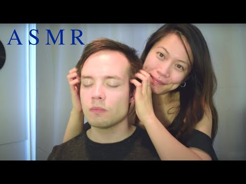 ASMR Men's Relaxing Head Massage ~ Face/Scalp