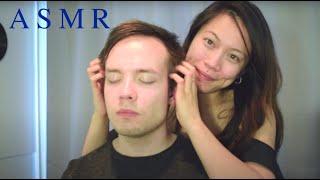 ASMR Men's Relaxing Head Massage ~ Face/Scalp