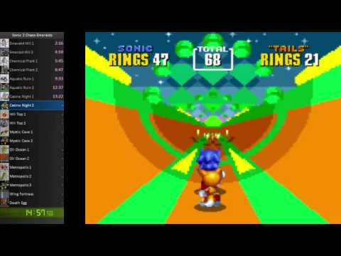 Sonic the Hedgehog 2 Speedrun: 34:54 All Chaos Emeralds [WR]