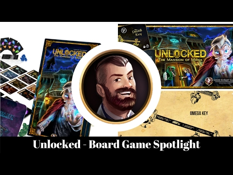 Unlocked Mansion of Mana - Board Game Spotlight - Kickstarter Preview