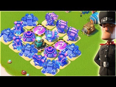 Boom Beach INSANE Splash Damage vs Defending Hammerman!