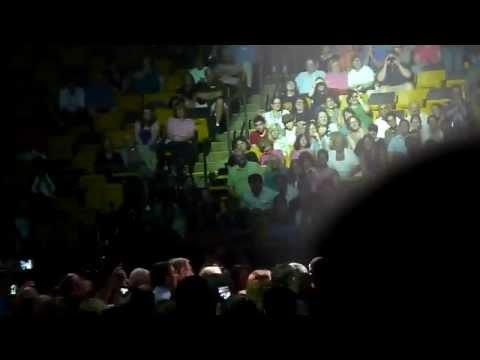 Bridget Conway sings with Josh Groban at TD Banknorth 7/26/11