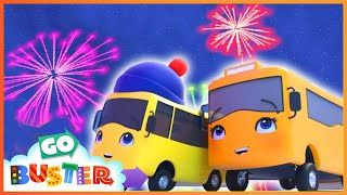 Fireworks with Family Fun | Go Buster | Baby Cartoons | Kids Videos | ABCs and 123s
