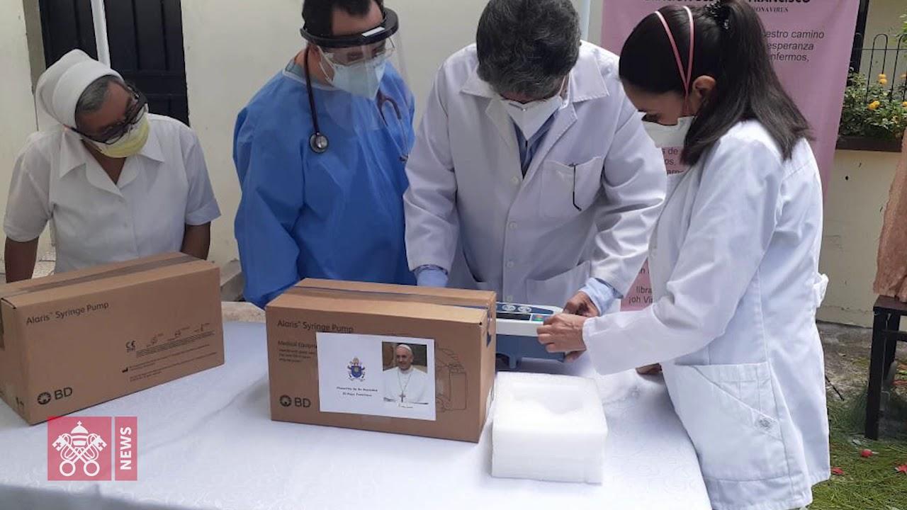 Honduras. Entregado el equipo de bioseguridad donado por el Papa al hospital el Carmen