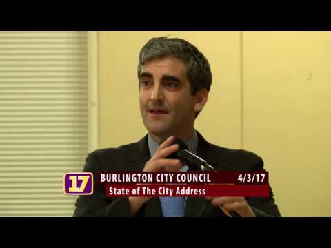 Miro Weinberger: State of The City Address 4/3/2017