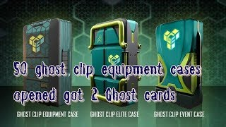 Dirty Bomb : 50 Ghost clip cases opened