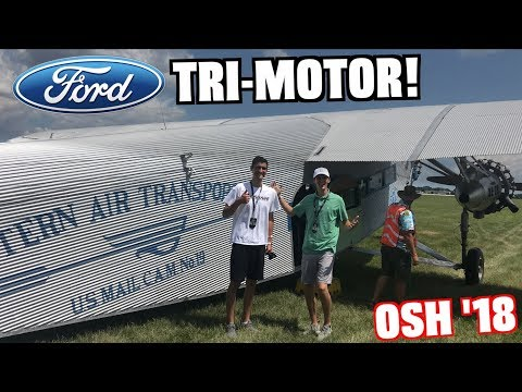 Flying In a 1929 Ford Tri-Motor at EAA AirVenture Oshkosh 2018!