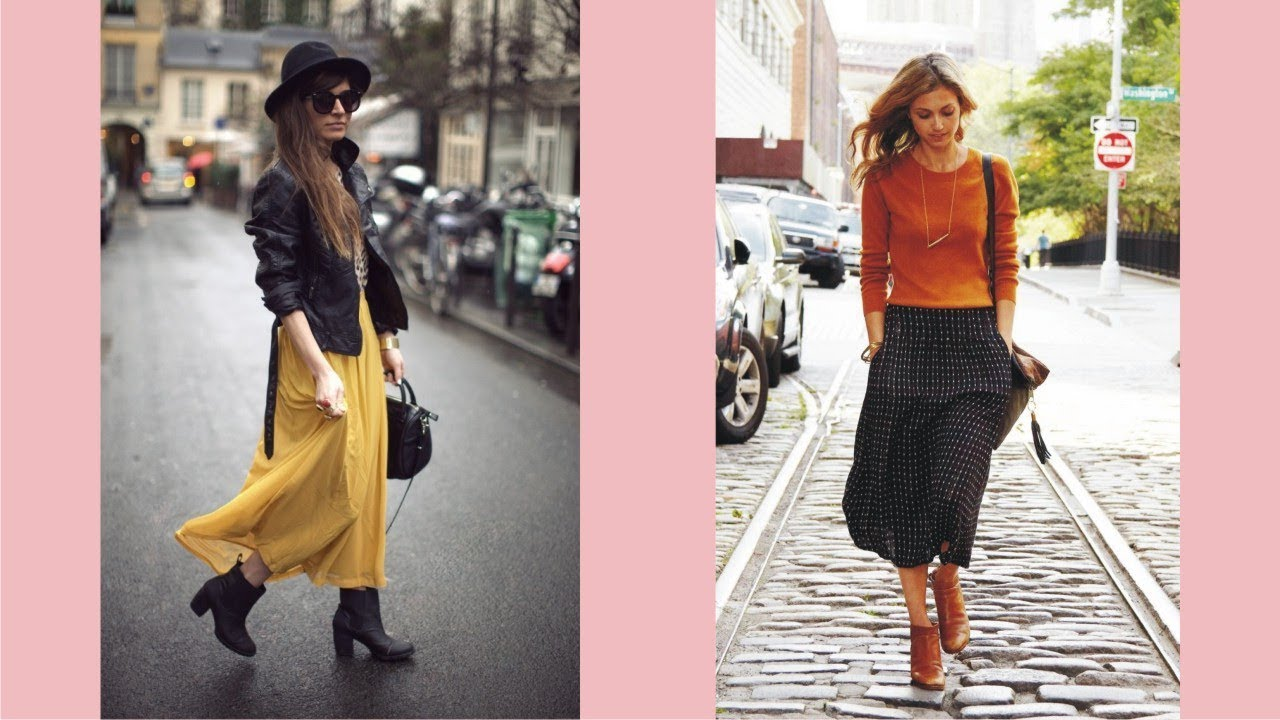 Ankle Boots And Long Skirts - YouTube
