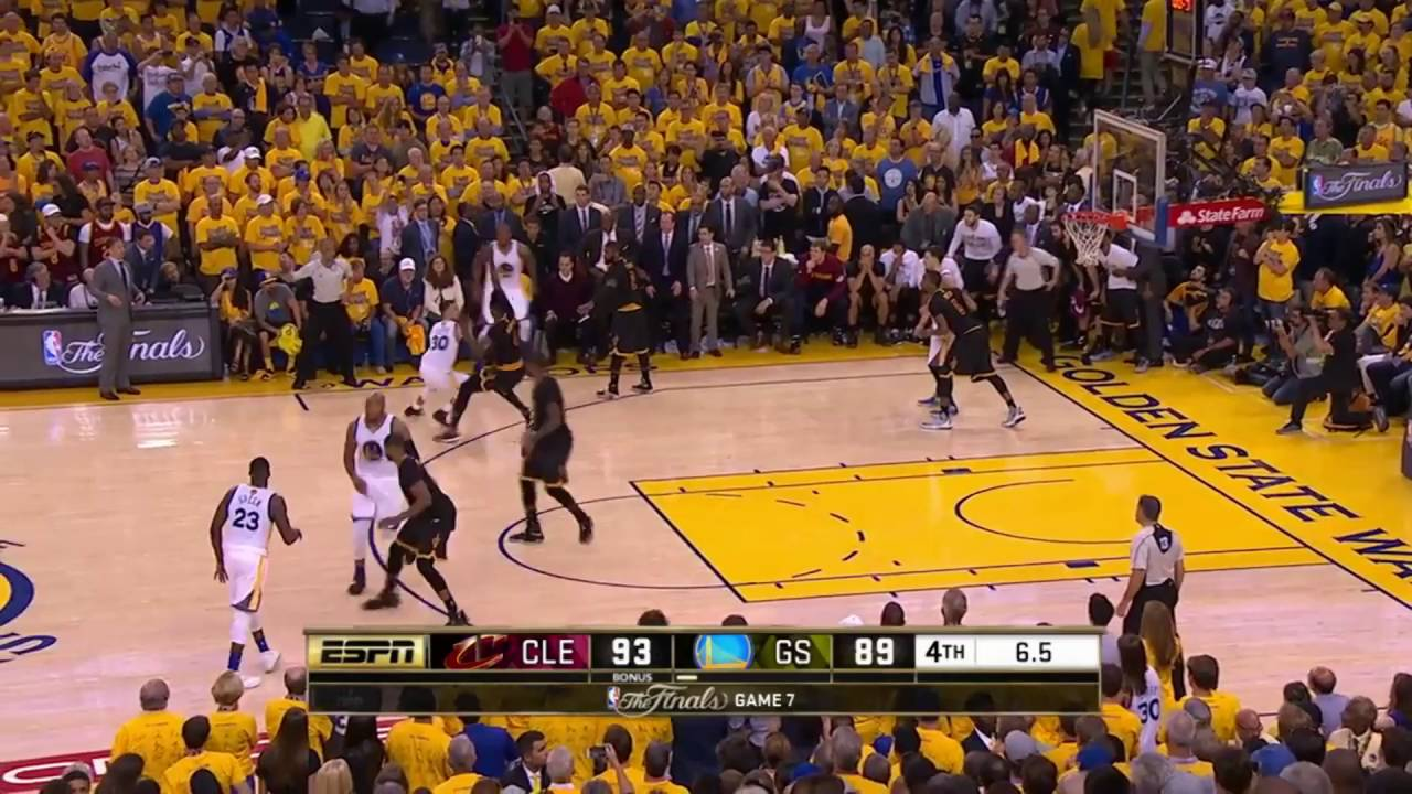 713ae43b61a3 LeBron James CRAZY blocks   Kyrie Irving CLUTCH three lead Cavs to be the NBA  Champion! (2016) - YouTube