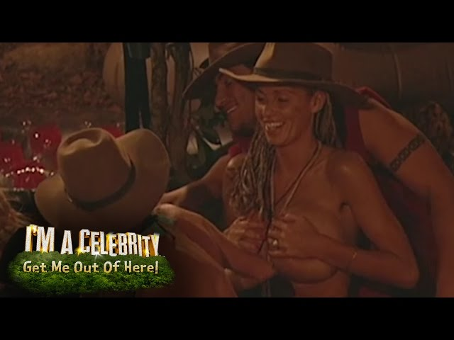 Jordans Boob Slip Caused By Peter   Im A Celebrity... Get Me Out Of Here!