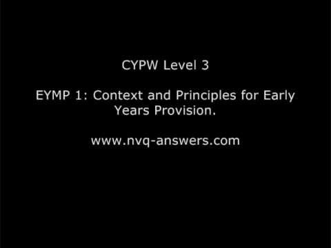 eymp 1 context and principles for Eymp 11 explain the legal status and principles of the relevant early years framework and why the early years frame work emphasises a personal and individual approach to learning and development the legal status and principles are set out in the eyfs.