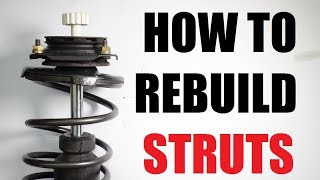 How to rebuild suspension struts (shocks)