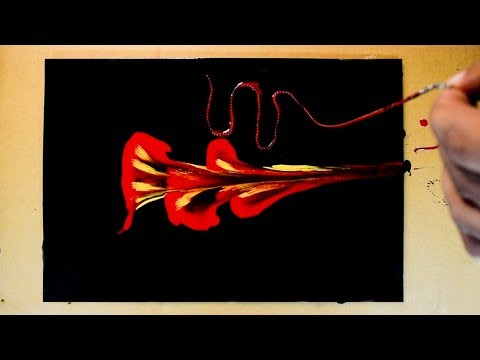 Abstract Floral Art using a String/Chain Pull | Acrylic Chain Pull Flower