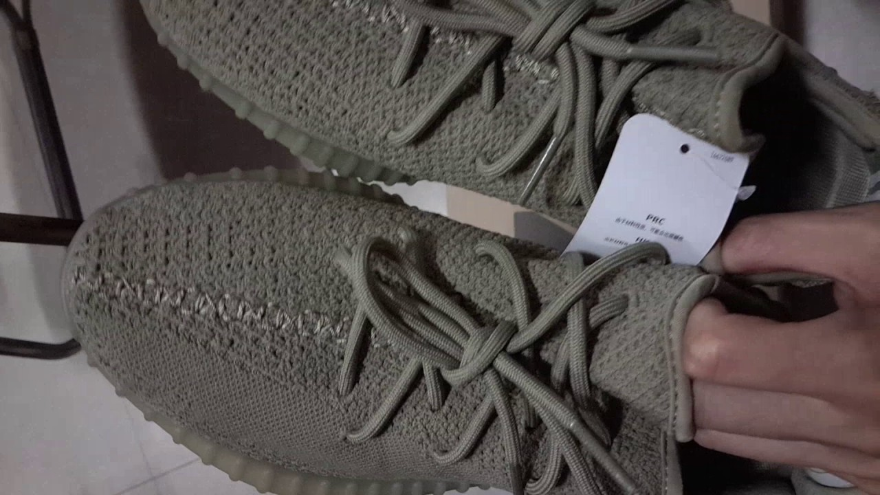 d87b02e0080 adidas yeezy 350 boost v2 dark green da9572 - YouTube