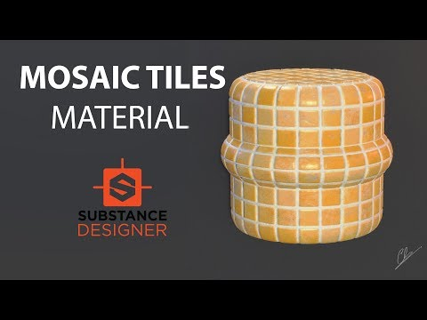 Substance Designer -  Creation of a Mosaic Tiles Material