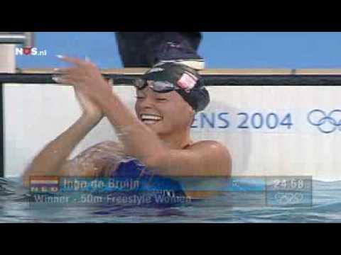 Inge de Bruijn | Gold | 50m Freestyle | 2004 Athens Olympics