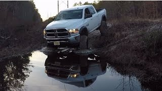 Trail riding threw puddles, plus Jarrett's truck got pulled out again & again!