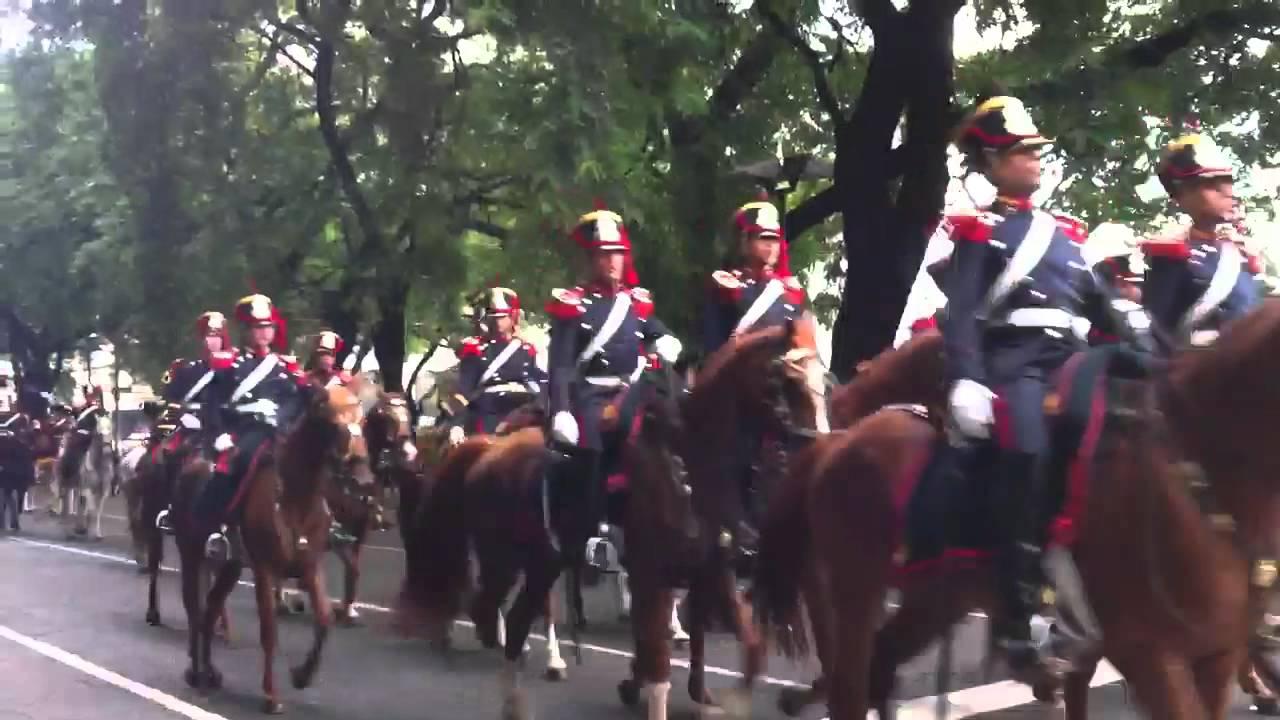 Regimiento de Granaderos a Caballo  Argentina Marzo 2012  YouTube