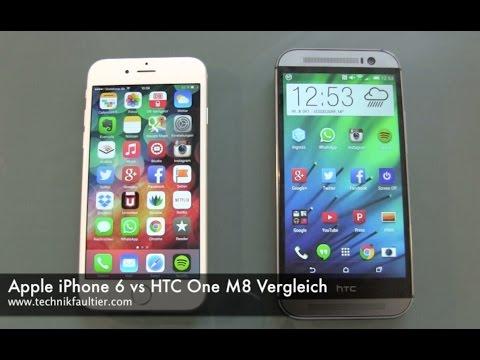Apple iPhone 6 vs HTC One M8 Vergleich