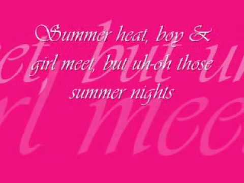Grease- Summer Night's Lyrics