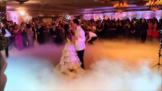 Wedding Dance with low lying fog