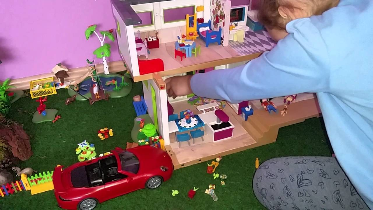 playmobil luxusvilla k che einrichtung youtube. Black Bedroom Furniture Sets. Home Design Ideas
