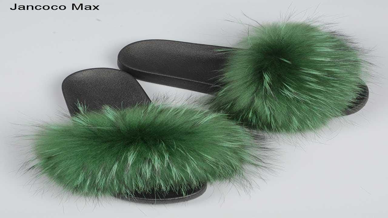 62e93d71944 Best women Raccoon Fur Slippers in Aliexpress