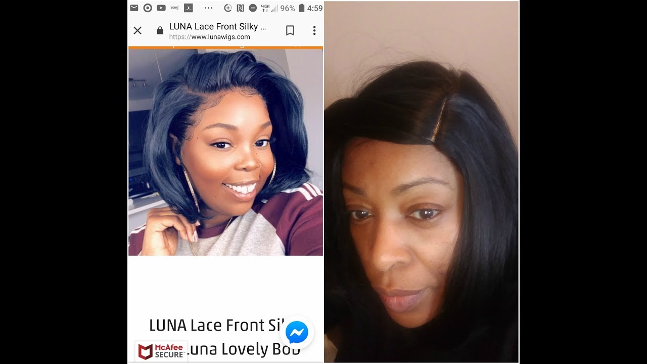 Scam Luna Wigs Exposing Lace Front Silky Bob Ripoff Lies