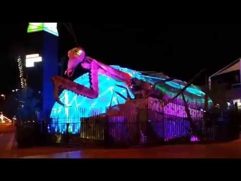 Praying Mantis Flame Thrower at Container Park (Fremont Street, Las Vegas, Nevada)
