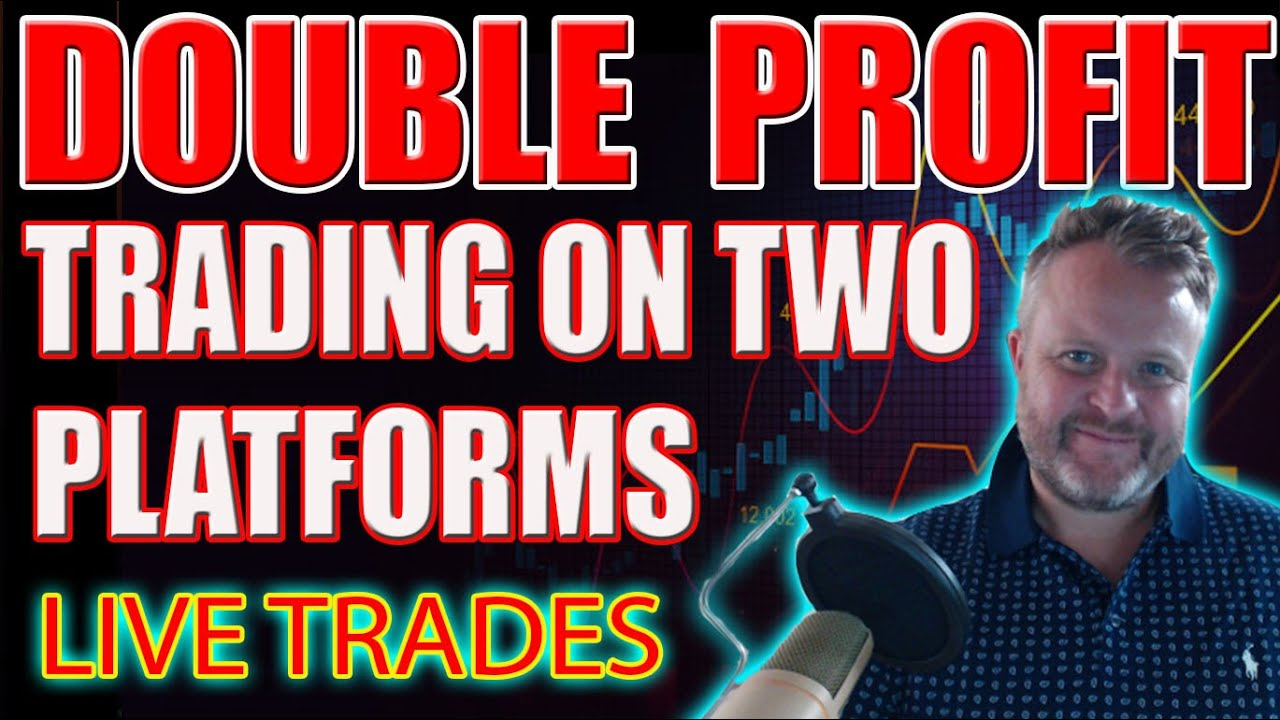 Double Profit $$ Trading On Two Platforms! Live Trades!