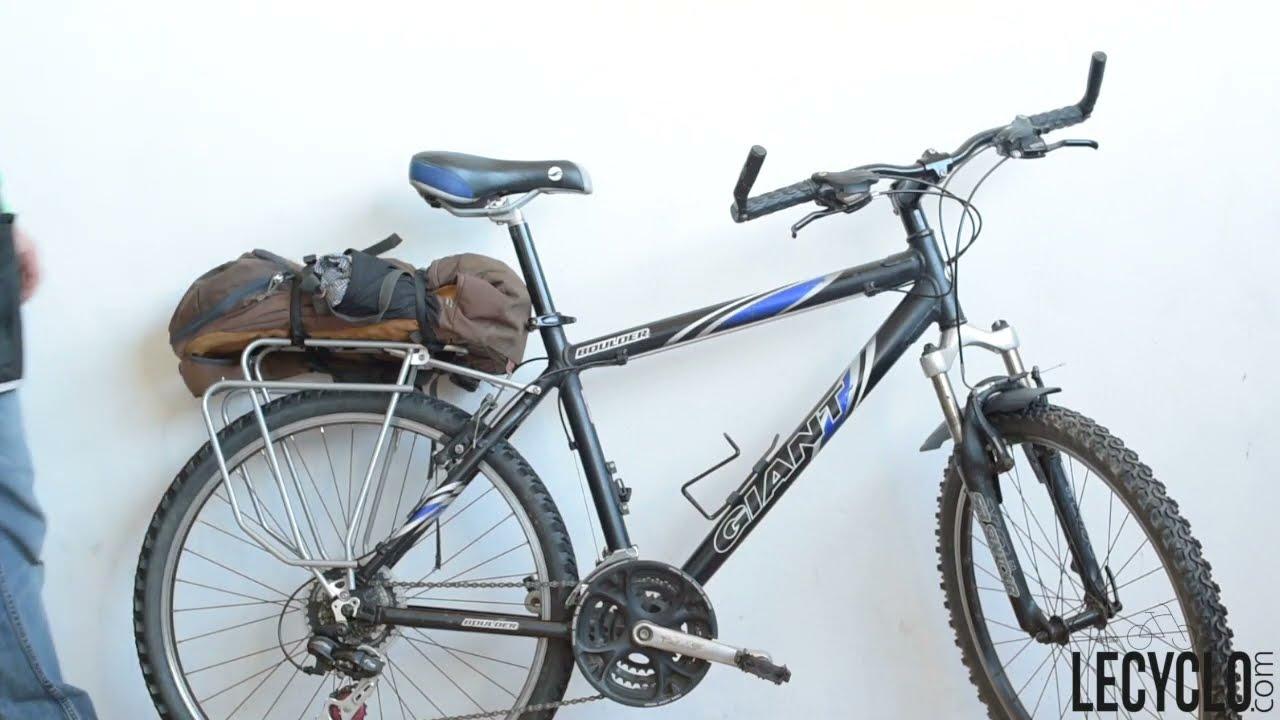 16-18 in Enfants Vélo Porte Bagage Cadre Fixation Noir