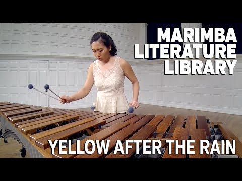 Yellow After The Rain,  Mitchell Peters  Marimba Literature Library