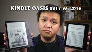Amazon Kindle Oasis Comparison (2017 vs. 2016) - Vlog #58