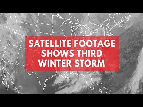 NOAA satellite footage shows third storm 'Skylar' approaching northeast