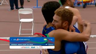Team USA Sweeps T64 100m | Parapan American Games Lima 2019