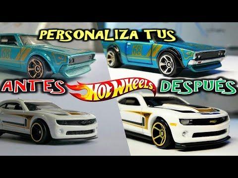 Aprende a PERSONALIZAR tus autos HOTWHEELS con MARCADORES Sharpie y Bic. CUSTOMIZE HOTWHEELS DIY