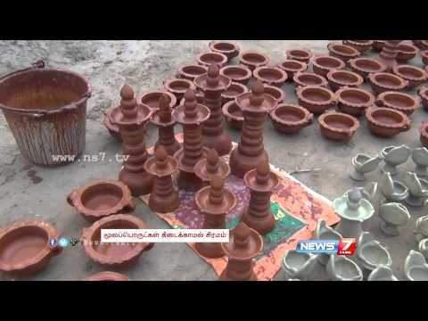 Production of 'Karthigai deepam' lamps