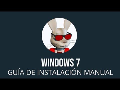 Windows 7 Manual Install Spanish