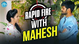 Rapid Fire With Mahesh || Anchor Komali Tho Kab...