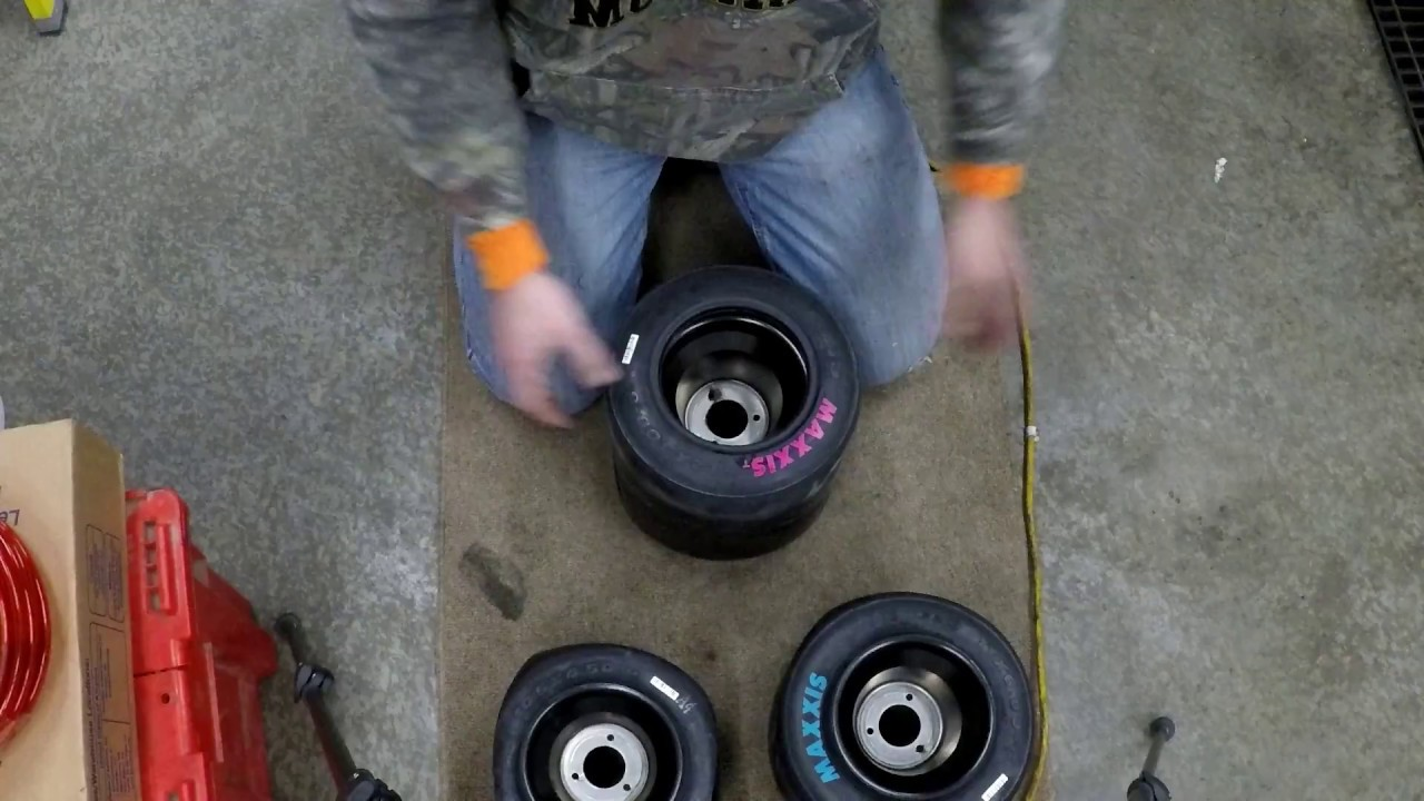 How to Mount Racing Go Kart Tires on One Piece Wheels